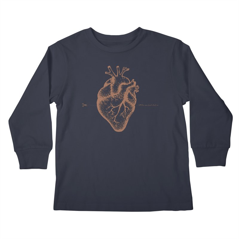 FLATLINE HEART Kids Longsleeve T-Shirt by TODD SARVIES BAND APPAREL