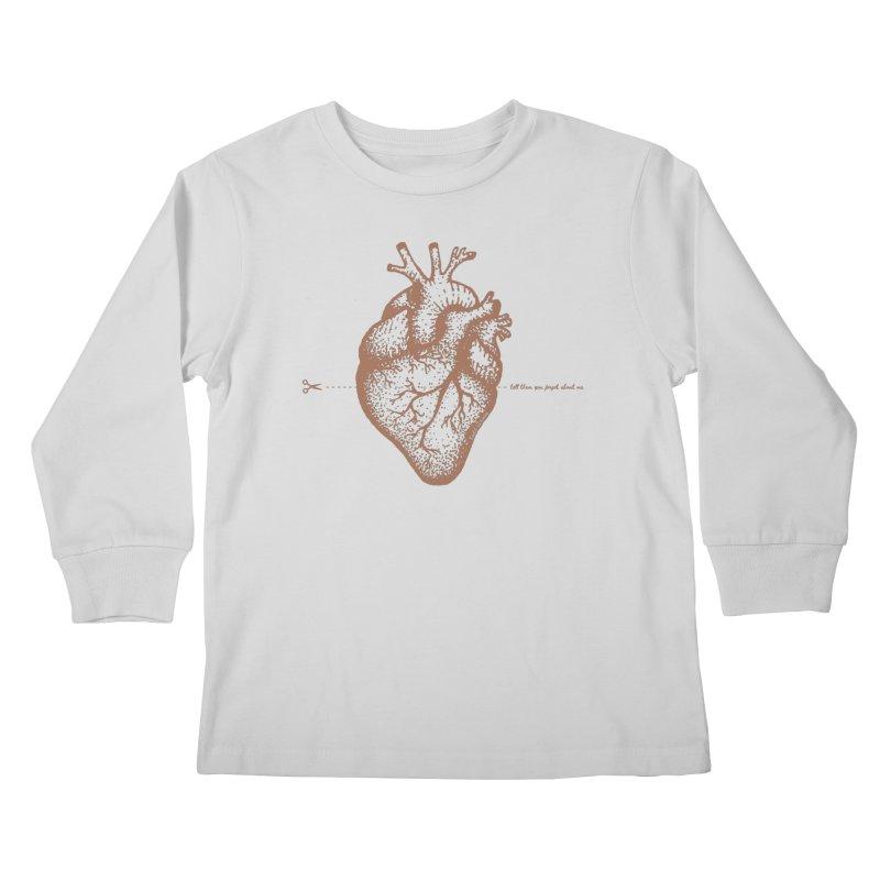 FLATLINE HEART Kids Longsleeve T-Shirt by TODD SARVIES BAND APPAREL
