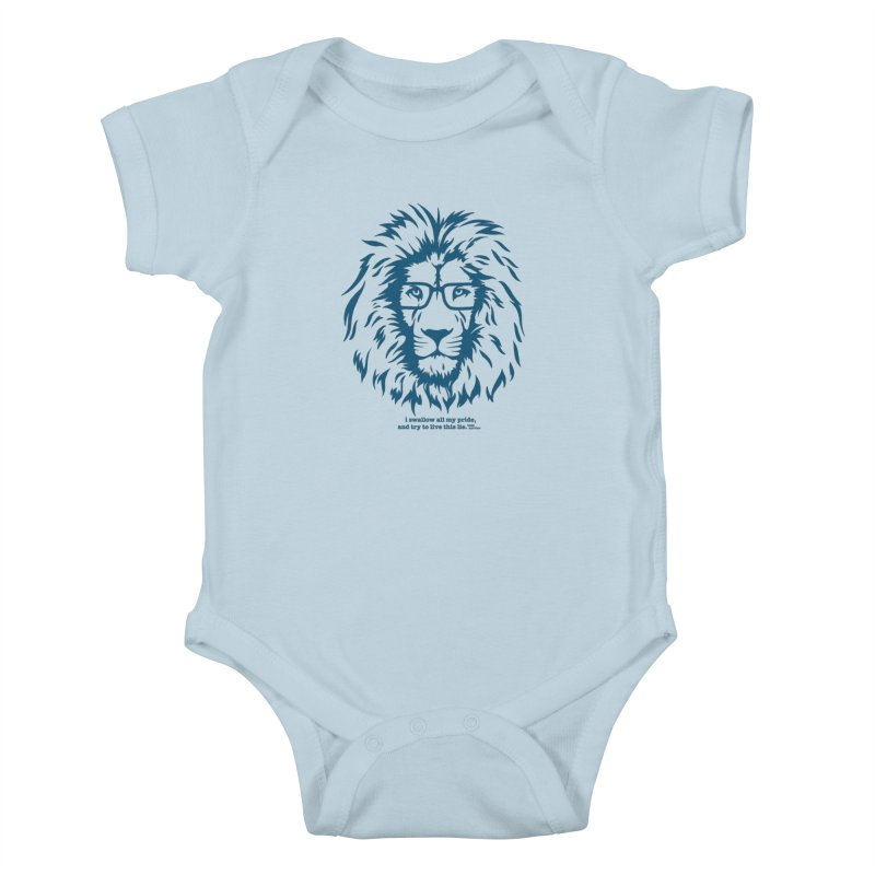GOING NOWHERE LION Kids Baby Bodysuit by TODD SARVIES BAND APPAREL