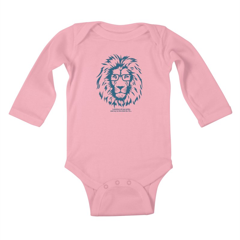 GOING NOWHERE LION Kids Baby Longsleeve Bodysuit by TODD SARVIES BAND APPAREL