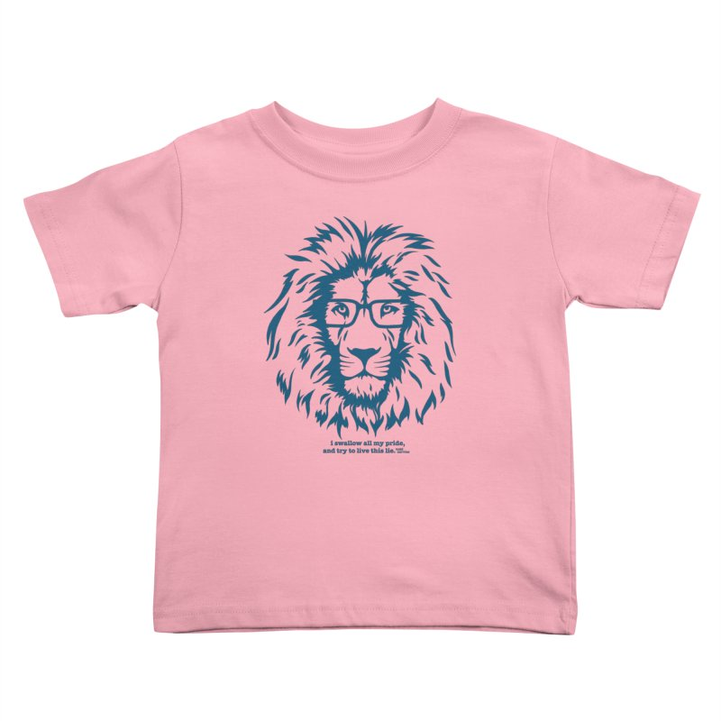 GOING NOWHERE LION Kids Toddler T-Shirt by TODD SARVIES BAND APPAREL
