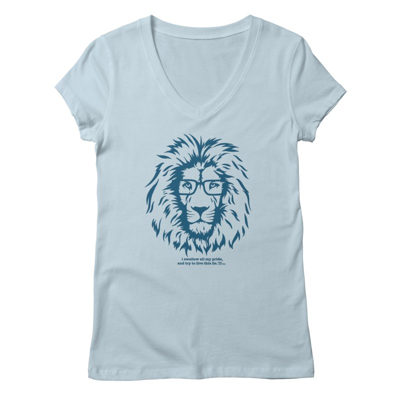 GOING NOWHERE LION Women's V-Neck by TODD SARVIES BAND APPAREL