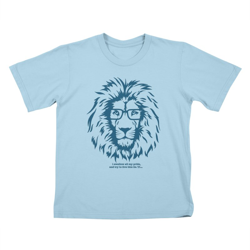 GOING NOWHERE LION Kids T-Shirt by TODD SARVIES BAND APPAREL