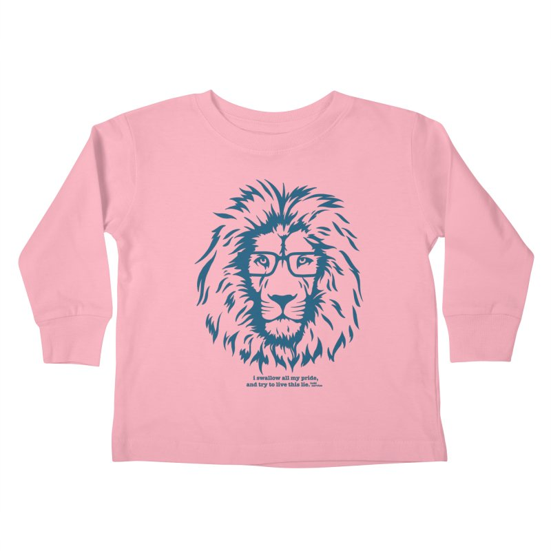 GOING NOWHERE LION Kids Toddler Longsleeve T-Shirt by TODD SARVIES BAND APPAREL
