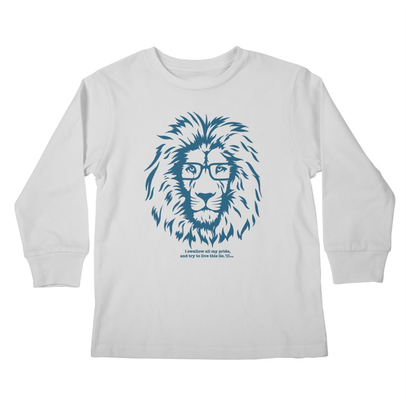 GOING NOWHERE LION Kids Longsleeve T-Shirt by TODD SARVIES BAND APPAREL