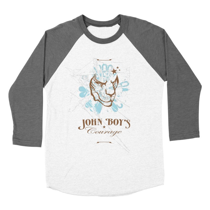 JBC GRAPHIC LION Men's Baseball Triblend Longsleeve T-Shirt by TODD SARVIES BAND APPAREL