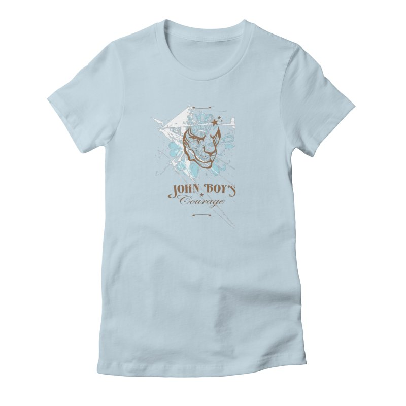 JBC GRAPHIC LION in Women's Fitted T-Shirt Baby Blue by TODD SARVIES BAND APPAREL