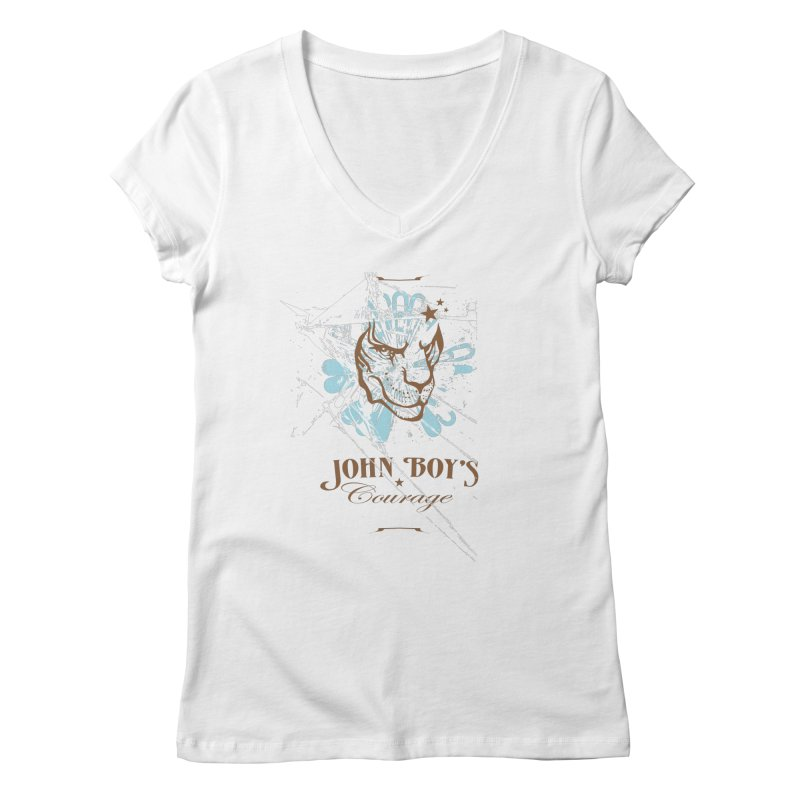JBC GRAPHIC LION Women's Regular V-Neck by TODD SARVIES BAND APPAREL