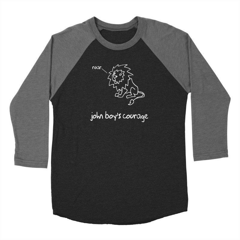 JBC CLASSIC LION Men's Baseball Triblend Longsleeve T-Shirt by TODD SARVIES BAND APPAREL