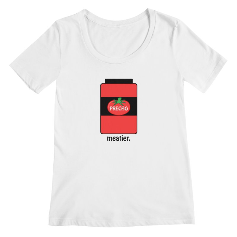 Precho Sauce Women's Regular Scoop Neck by TODD SARVIES BAND APPAREL