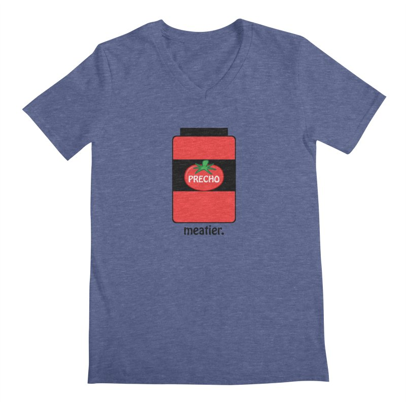 Precho Sauce Men's Regular V-Neck by TODD SARVIES BAND APPAREL
