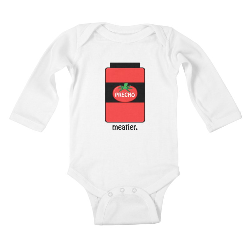 Precho Sauce Kids Baby Longsleeve Bodysuit by TODD SARVIES BAND APPAREL