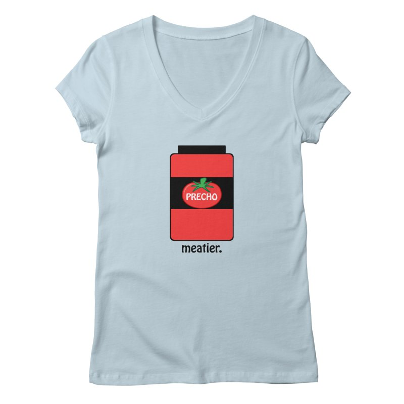 Precho Sauce Women's Regular V-Neck by TODD SARVIES BAND APPAREL