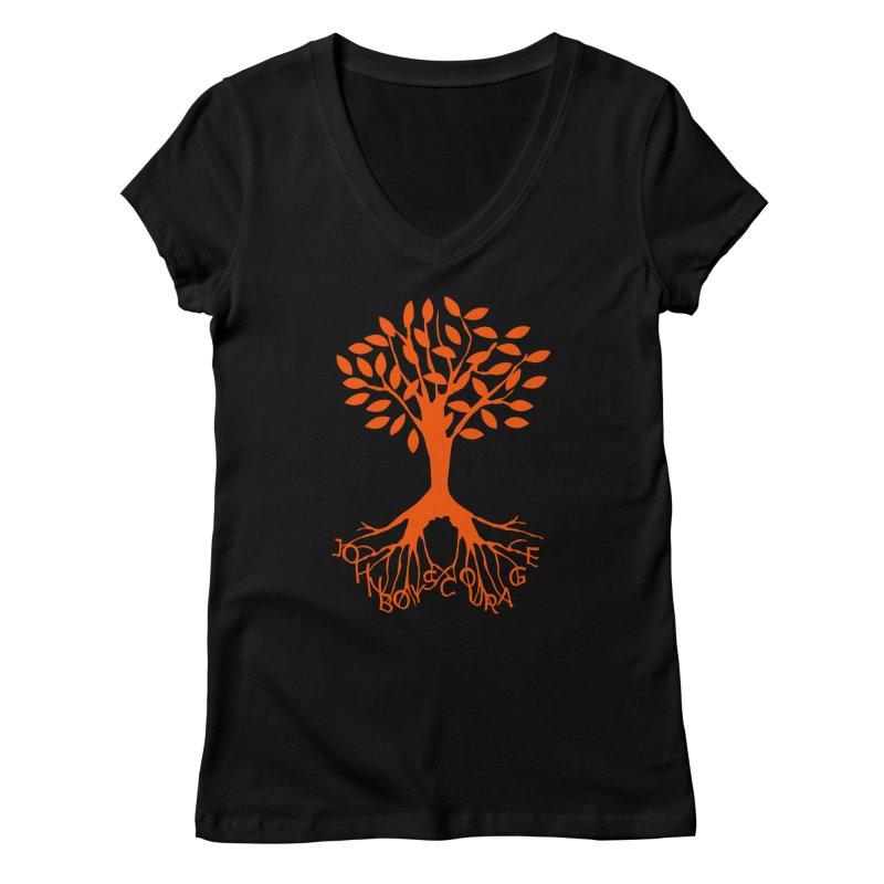 JBC ORANGE TREE Women's V-Neck by TODD SARVIES BAND APPAREL