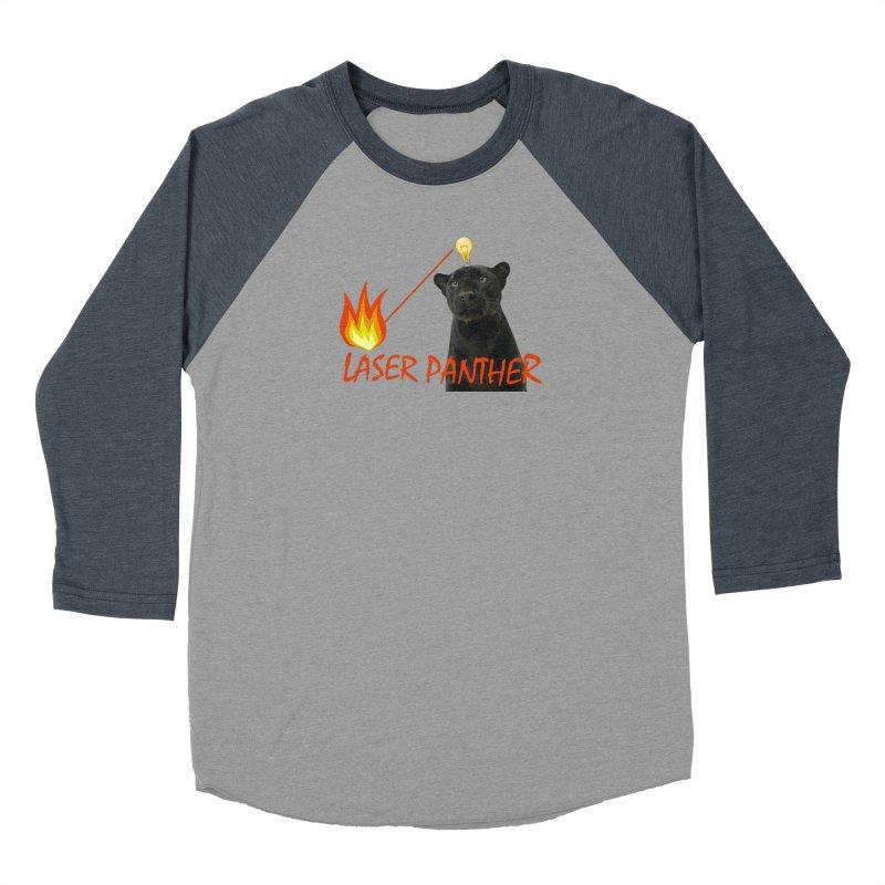Laser Panther Men's Baseball Triblend Longsleeve T-Shirt by TODD SARVIES BAND APPAREL