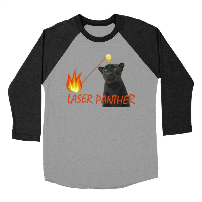 Laser Panther Men's Baseball Triblend Longsleeve T-Shirt by TODD SARVIES BAND APPAREL
