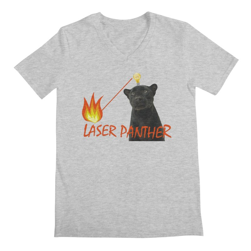 Laser Panther Men's V-Neck by TODD SARVIES BAND APPAREL