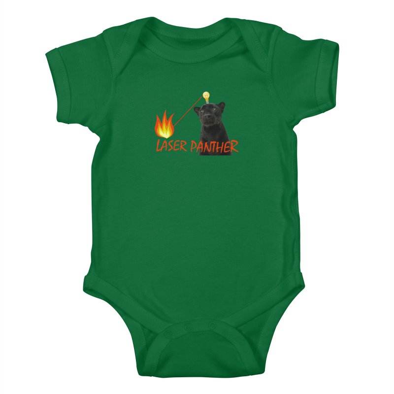Laser Panther Kids Baby Bodysuit by TODD SARVIES BAND APPAREL