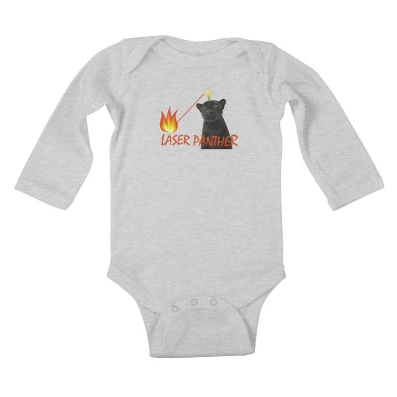 Laser Panther Kids Baby Longsleeve Bodysuit by TODD SARVIES BAND APPAREL