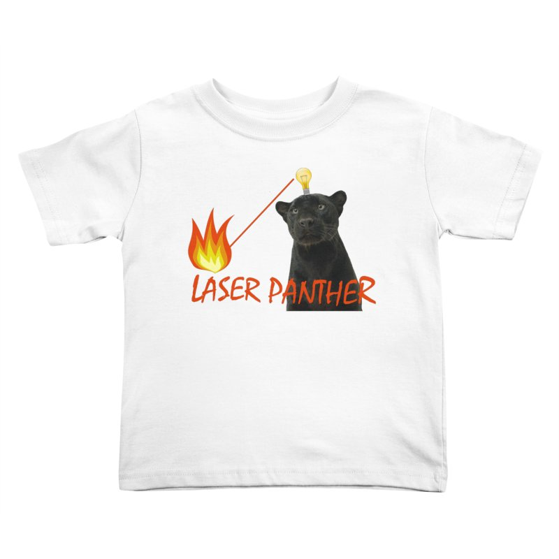 Laser Panther Kids Toddler T-Shirt by TODD SARVIES BAND APPAREL