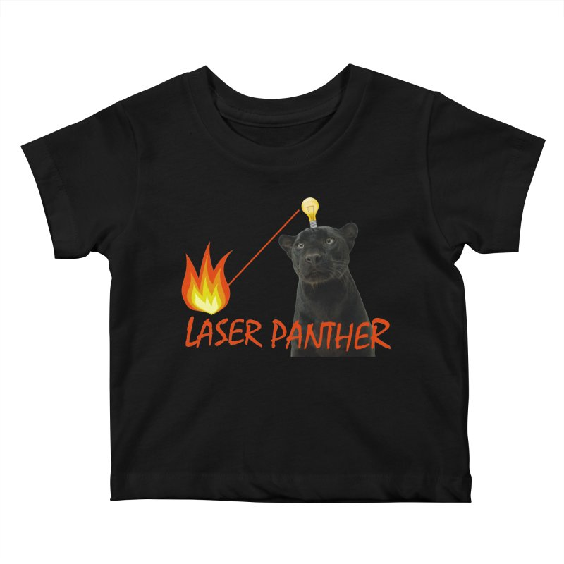 Laser Panther Kids Baby T-Shirt by TODD SARVIES BAND APPAREL