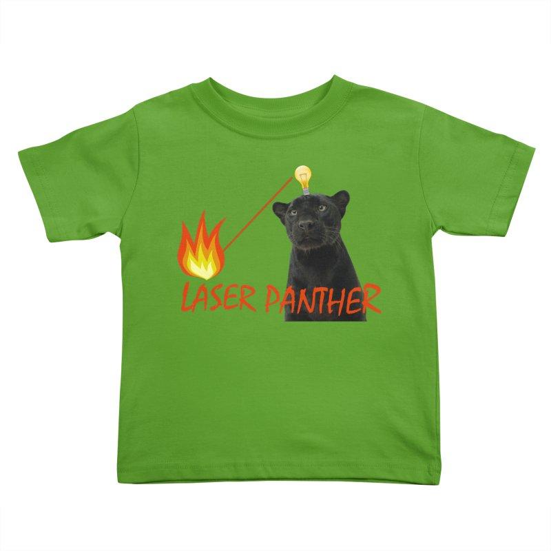 Laser Panther Kids Toddler T-Shirt by TODD SARVIES BAND APPAREL