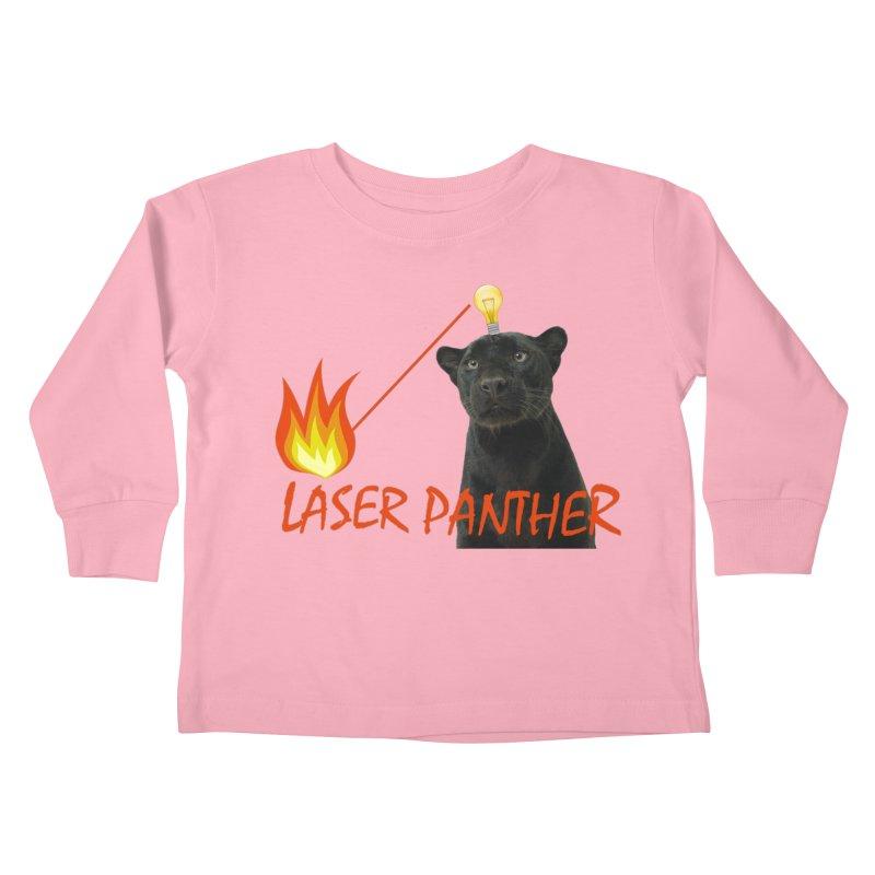 Laser Panther Kids Toddler Longsleeve T-Shirt by TODD SARVIES BAND APPAREL