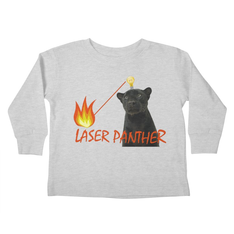 Laser Panther Kids Toddler Longsleeve T-Shirt by TODD SARVIES BAND APPAREL
