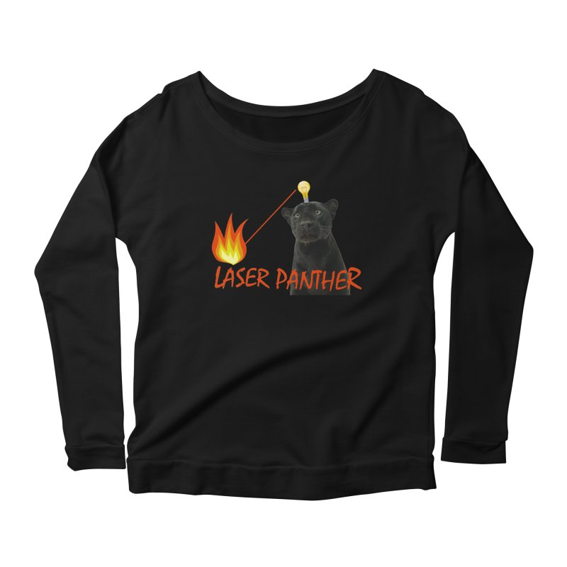 Laser Panther Women's Scoop Neck Longsleeve T-Shirt by TODD SARVIES BAND APPAREL