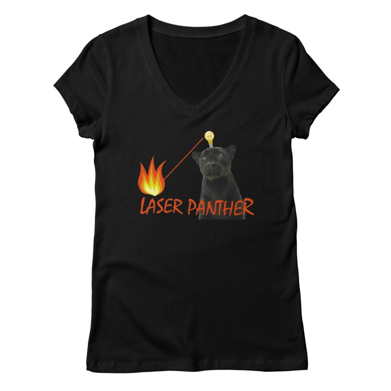 Laser Panther Women's V-Neck by TODD SARVIES BAND APPAREL
