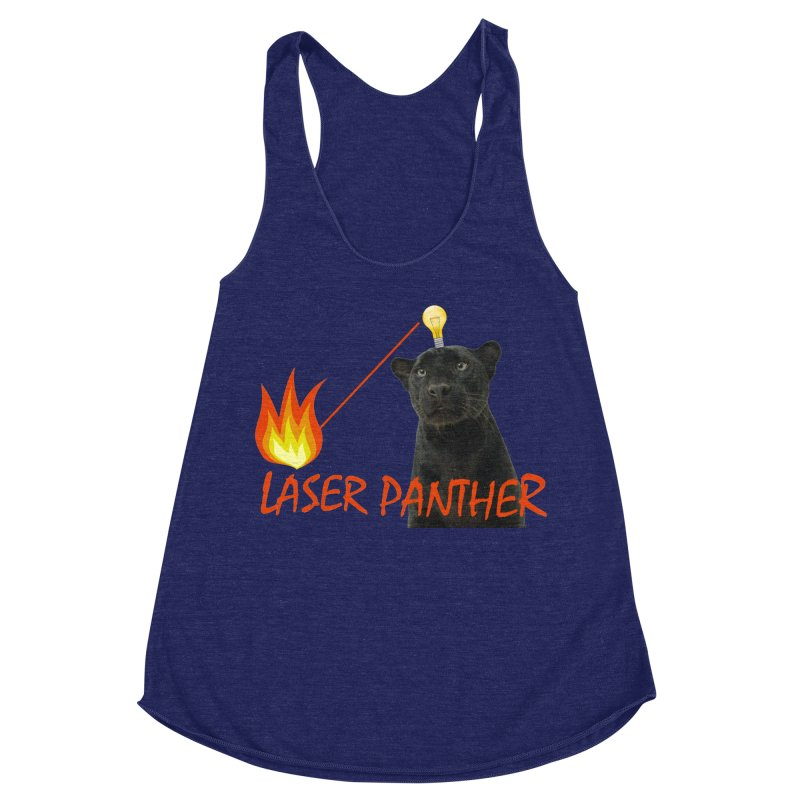 Laser Panther Women's Racerback Triblend Tank by TODD SARVIES BAND APPAREL