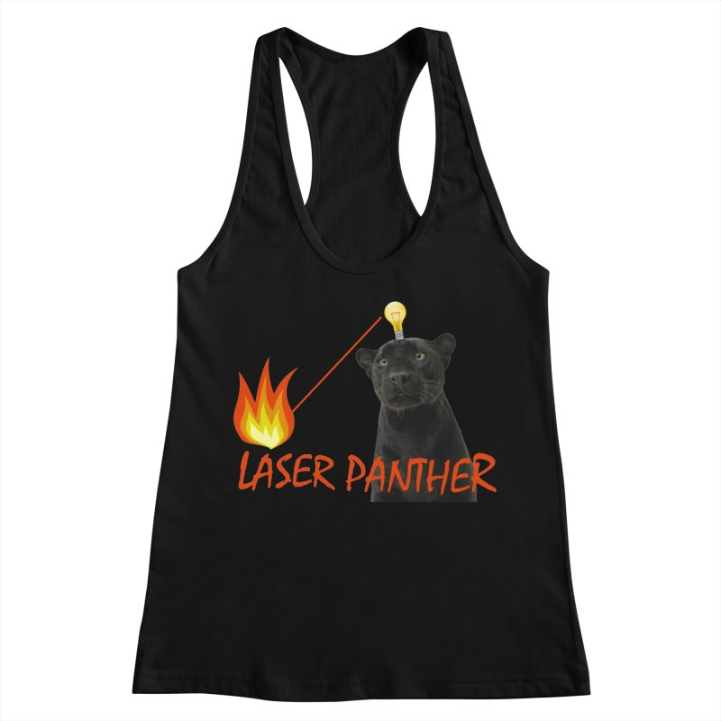 Laser Panther Women's Racerback Tank by TODD SARVIES BAND APPAREL
