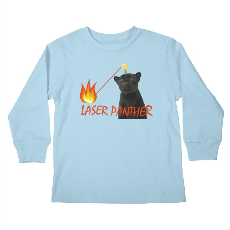 Laser Panther Kids Longsleeve T-Shirt by TODD SARVIES BAND APPAREL