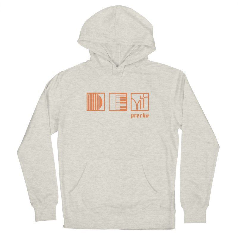 Precho Squares Logo Women's French Terry Pullover Hoody by TODD SARVIES BAND APPAREL