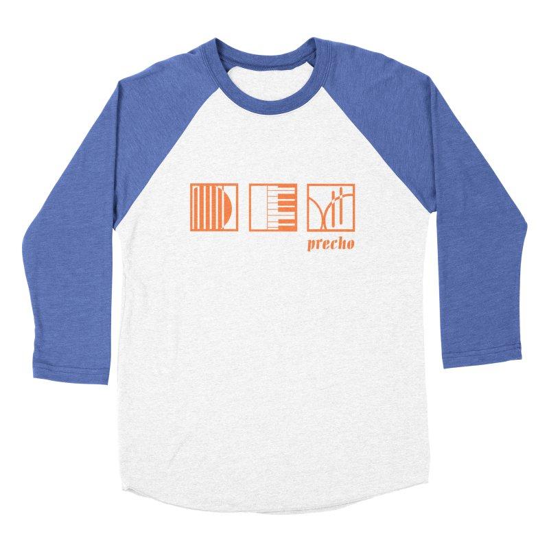 Precho Squares Logo Women's Baseball Triblend Longsleeve T-Shirt by TODD SARVIES BAND APPAREL