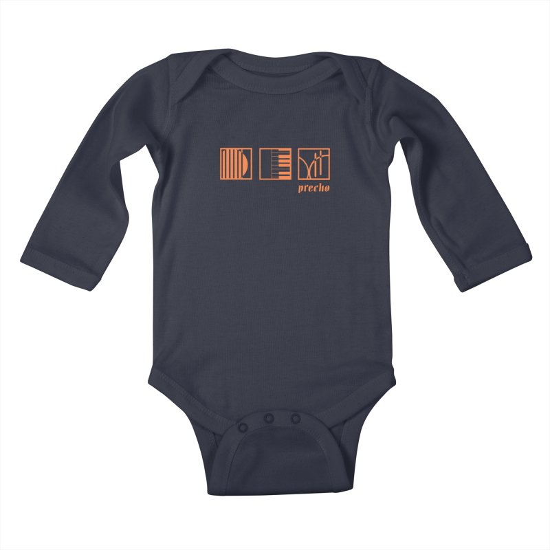 Precho Squares Logo Kids Baby Longsleeve Bodysuit by TODD SARVIES BAND APPAREL