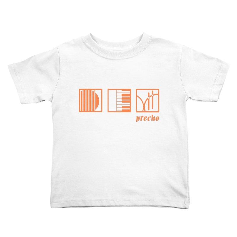 Precho Squares Logo Kids Toddler T-Shirt by TODD SARVIES BAND APPAREL