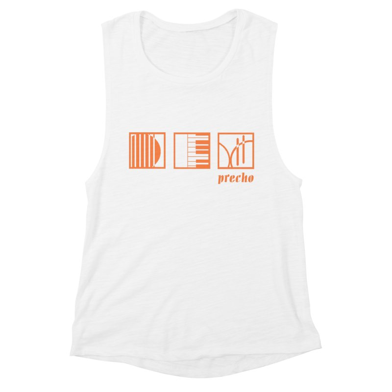 Precho Squares Logo Women's Muscle Tank by TODD SARVIES BAND APPAREL