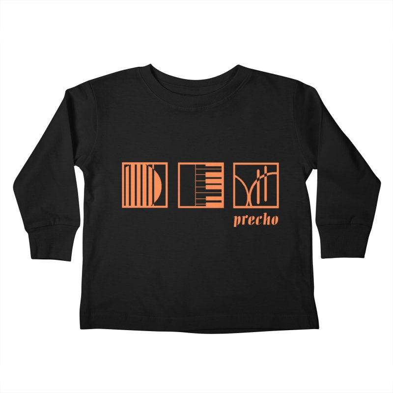 Precho Squares Logo Kids Toddler Longsleeve T-Shirt by TODD SARVIES BAND APPAREL