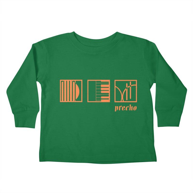 Precho Squares Logo Kids Toddler Longsleeve T-Shirt by TODD SARVIES BAND APPAREL