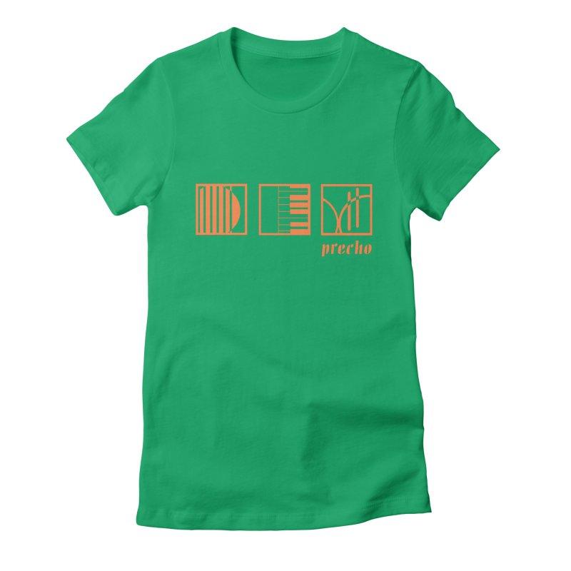Precho Squares Logo Women's T-Shirt by TODD SARVIES BAND APPAREL