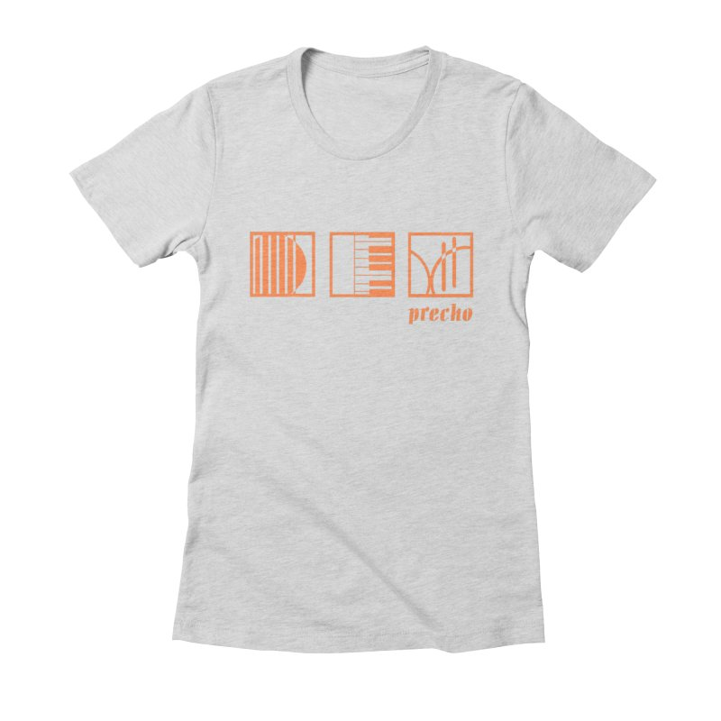 Precho Squares Logo Women's T-Shirt by TODD SARVIES BAND APPAREL