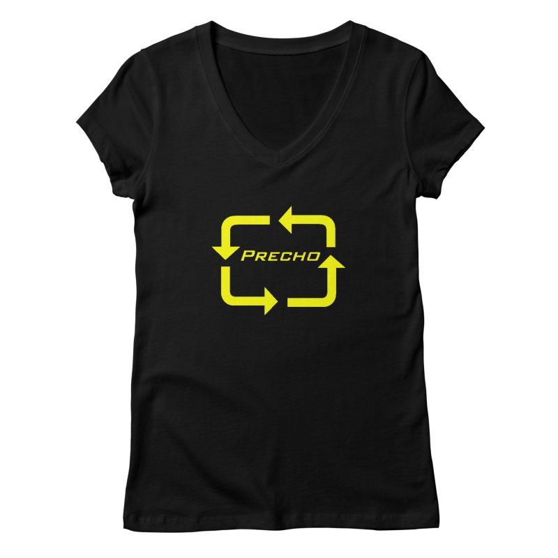 Precho Arrow Logo Women's V-Neck by TODD SARVIES BAND APPAREL