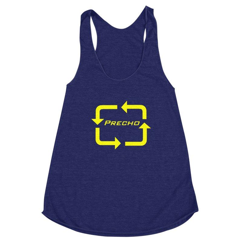 Precho Arrow Logo Women's Racerback Triblend Tank by TODD SARVIES BAND APPAREL