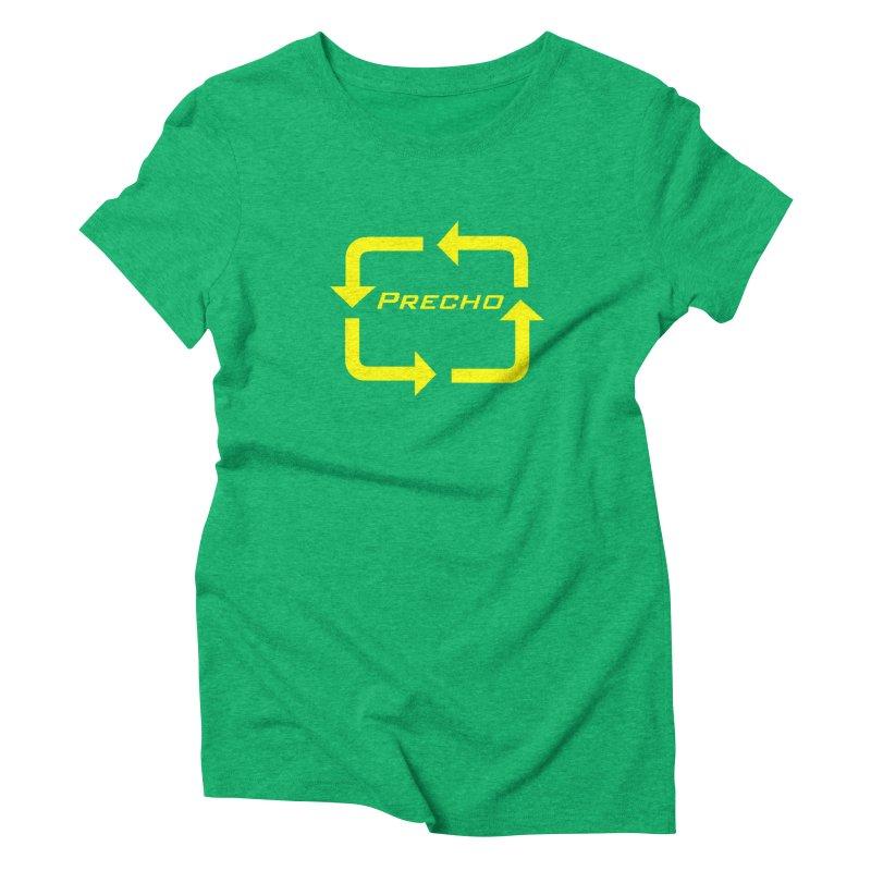 Precho Arrow Logo Women's Triblend T-Shirt by TODD SARVIES BAND APPAREL