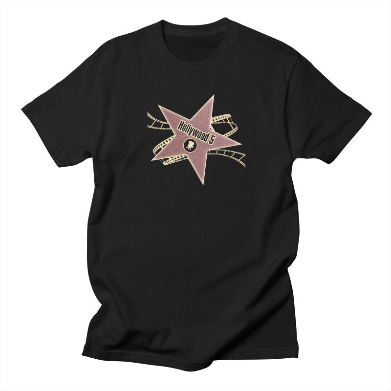 Hollywood 5 Star Women's Regular Unisex T-Shirt by TODD SARVIES BAND APPAREL