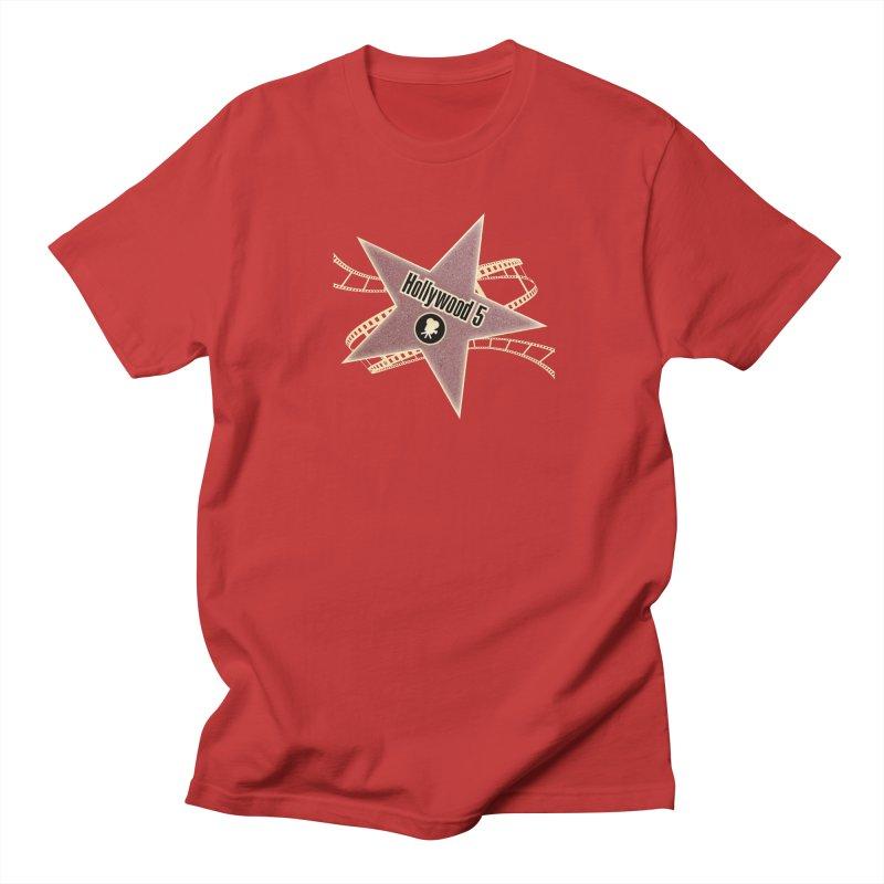 Hollywood 5 Star Men's Regular T-Shirt by TODD SARVIES BAND APPAREL