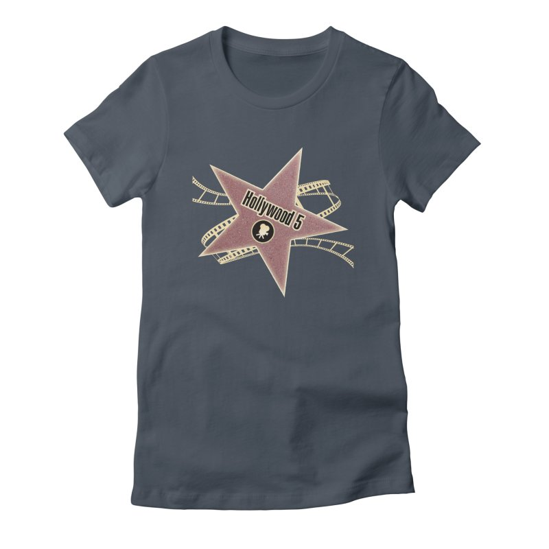 Hollywood 5 Star in Women's Fitted T-Shirt Denim by TODD SARVIES BAND APPAREL