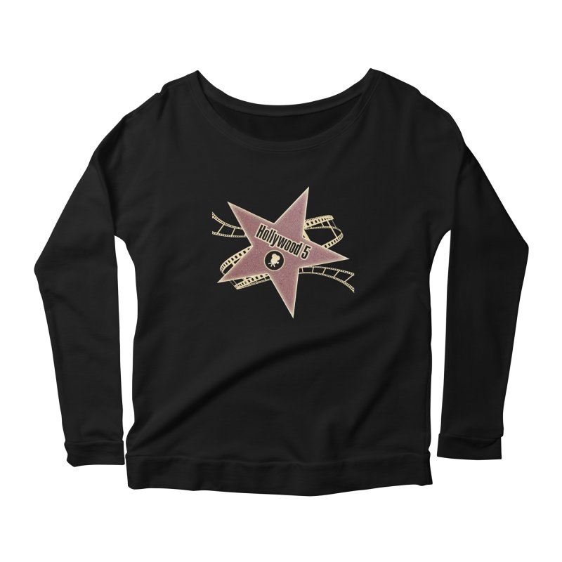 Hollywood 5 Star Women's Scoop Neck Longsleeve T-Shirt by TODD SARVIES BAND APPAREL