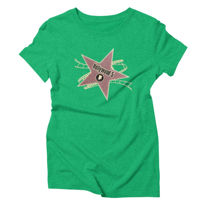 Hollywood 5 Star Women's Triblend T-Shirt by TODD SARVIES BAND APPAREL